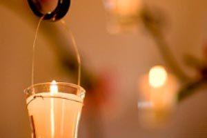 Ceremonia de las velas para la fiesta de quince