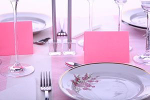 Cómo presentar el menú en un evento