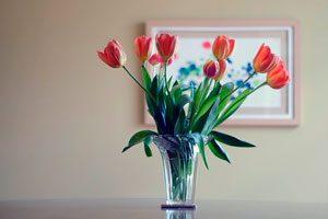 Flores en la decoración, según la estación del año